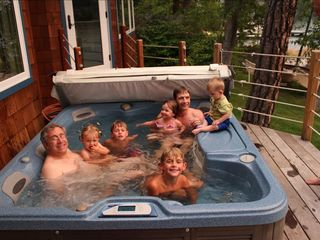 Somers house photo - Guests enjoying our hot tub