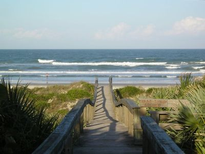 North New Smyrna Beach Walkover just steps from the house