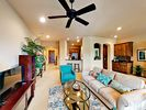 Living Area - Welcome to Lakeway! This condo is professionally managed by TurnKey Vacation Rentals.