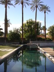Indian Wells estate photo - 82' lap pool has an infinity edge for tennis court viewing.