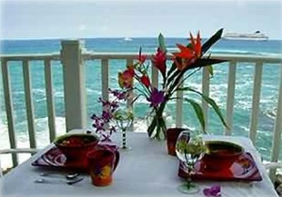 Your condo has everything you need to dine oceanfront.