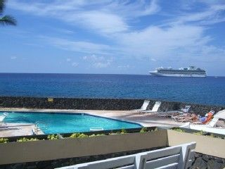 Kailua Kona condo rental - Oceanfront Pool and Spa and Tennis at Sea Village
