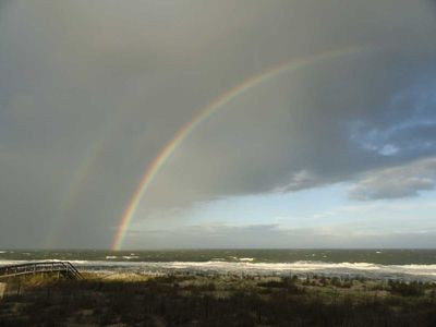 A double rainbow seen from our deck