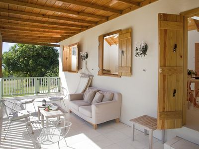 Jessups Village cottage rental - The terrace is perfect for monkey-watching