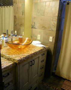 Upper master bathroom sink