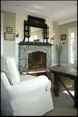 Bailey Island house photo - Living Room Fire Place