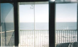 Satellite Beach condo photo - Private Oceanfront screened balcony off livingroom