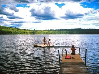 Sebago cottage photo - Our swim float and dock