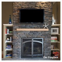 Lincoln City house photo - Gas Fireplace