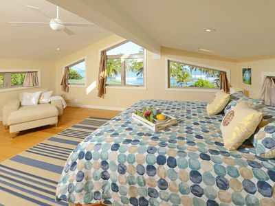 Bedroom #3 with CalKing Bed, Beach, Ocean and Mountain Views