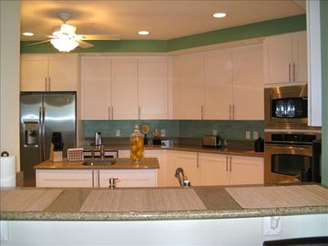 Spacious Kitchen with Stainless Appliances, Granite, & Wine Refrigerator!