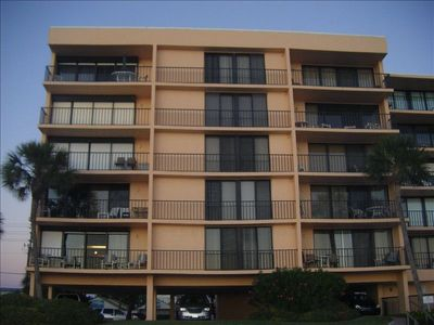 Madeira Beach condo rental - Your balconies on Gulf, 3rd floor center & right