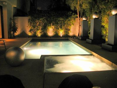 Romantic Pool & Spa by Nightlight