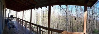 Blue Ridge cabin photo - Upstairs deck with mountain view.