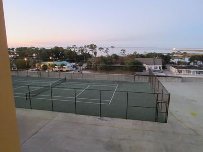 Tennis court - view from front door