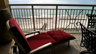 Perdido Key condo photo - Gulf Front Balcony-10th Flr. New Lounger, Table with 4 Chairs.