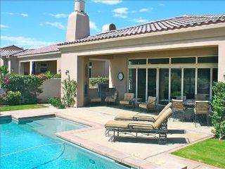 La Quinta estate photo - Relax pool side or entertain outdoors with your built in BBQ and fireplace