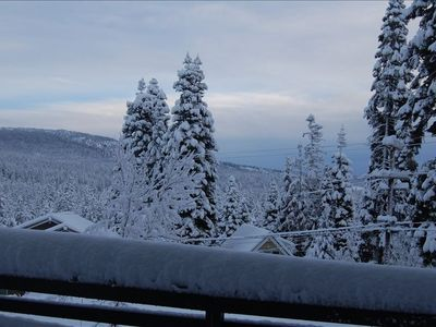 Mountain views from the deck - stunning throughout the year!