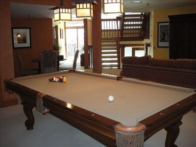 Pool Table in Family Room, Along w/ Poker Table, New Flat Screen & Pullout sleep