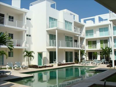 Playa del Carmen condo rental - Private pool for the Pelicanos Condominium Residents