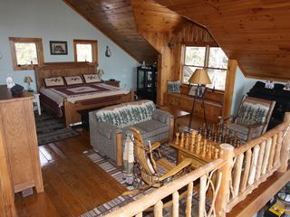Lake Placid chalet photo - King Bedroom with private bath