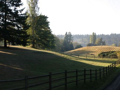 Typical scene of island farm and rural lanscape