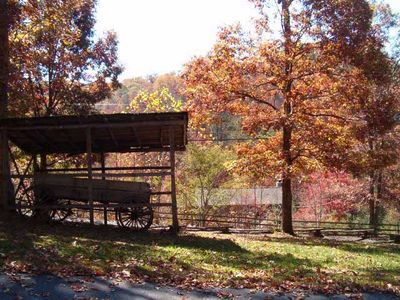 Country Pines Log Home Resort is a rustic peaceful community