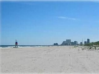 Brigantine condo rental - Nice wide private beach (great for a jog) with view of AC