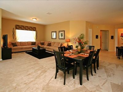 "Dining Area and Living Room -  with 50"" HD flatscreen TV and DVD"