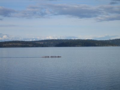 looking across to the Gulf Islands,