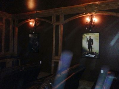 Theatre Room with Reclining Seating on a Deck Level for better view.(also sleeps