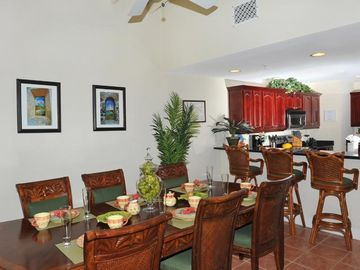 Spacious dining area