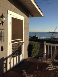 La Conchita cottage rental - Front Entry - You can't miss the views from this ocean bungalow.