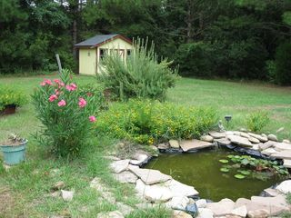 Wadmalaw Island house photo - Backyard zen garden