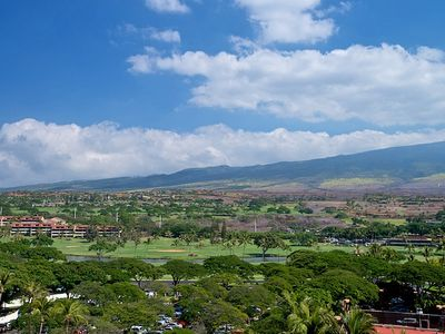 View of the nearby Kaanapali Golf Course