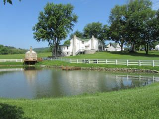 The Farmhouse - view from the pond!