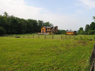 Seven Springs house photo - Our back yard includes a pasture. Soon we'll build a barn to house some horses!