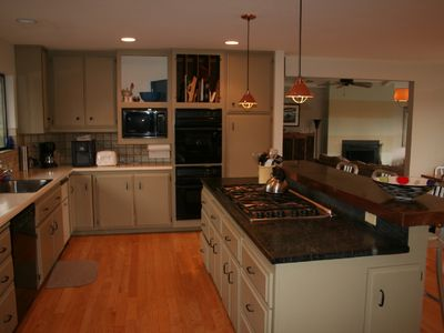 Kitchen with Dacor 6 burner stove & double oven