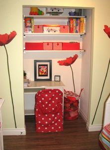 Nook with Desk & Toys in the Kids Room