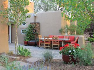 Santa Fe house photo - Kitchen Patio with seating for 8+.