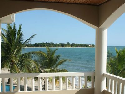 Unrestricted views of the Caribbean from the Master.  Bedroom Veranda