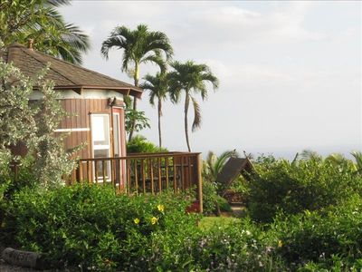 Hale Wai with private deck in tropical surroundings