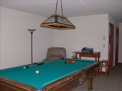 Game Room w TV, Pool table, and games