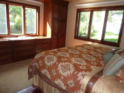 Main Level Master Suite, King Bed, Cherry Cabinets Views of Rendezvous Mountain