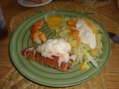 Make a lobster dinner from your catch from the backyard...mmmmm