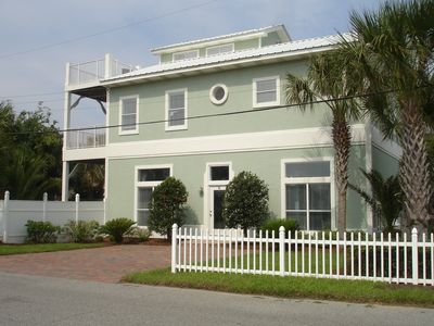 Frangista Beach property rental - Enjoy our three story home with decks on all three