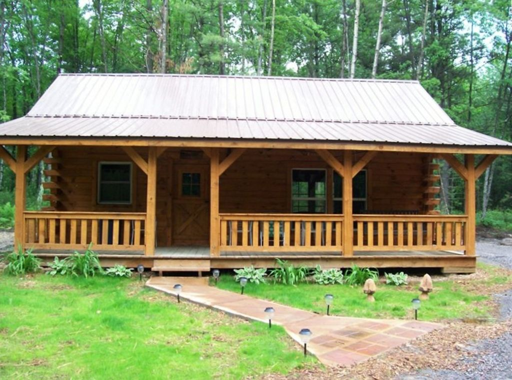 Amish log cabin getaway vrbo for Amish house builders