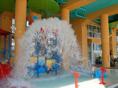 One of the Kids Water Play Areas