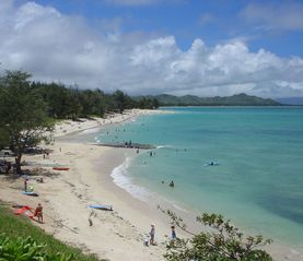 Kailua house photo - Sink your toes into the sugar sand beach and chill. Steps from your door!