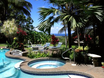 Total Privacy set within a Mature Tropical Decor
